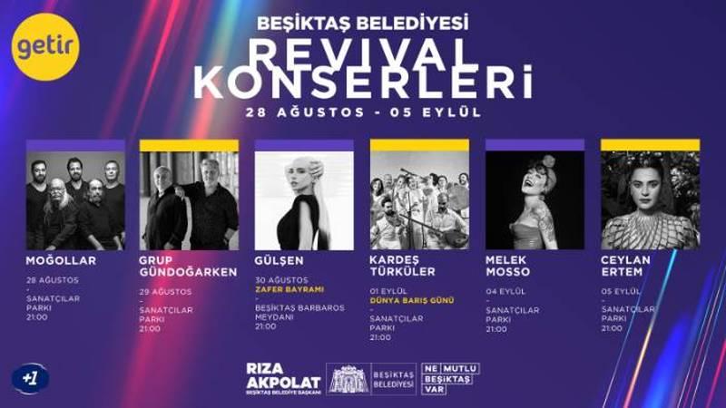 Beşiktaş Belediyesi Revival Konserleri Başlıyor
